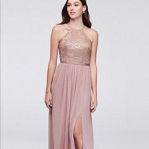beautiful rose gold/mauve formal dress.
